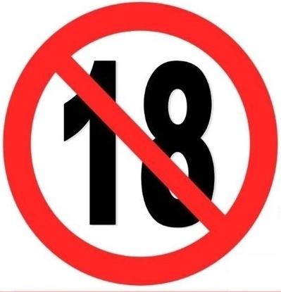 Imagen de Prohibida la venta a menores de 18 años